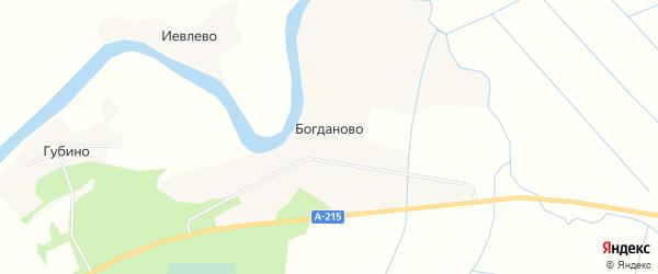 Карта села Богданово в Архангельской области с улицами и номерами домов