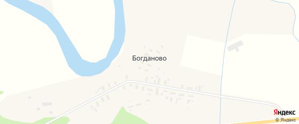 Полевая улица на карте села Богданово с номерами домов