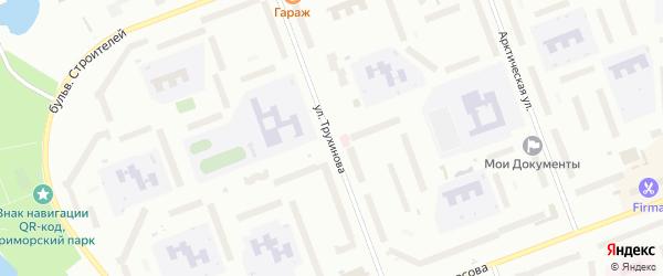 Улица Трухинова на карте Северодвинска с номерами домов