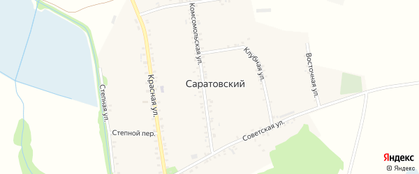 Комсомольский переулок на карте Саратовского хутора с номерами домов
