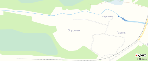 Карта садового некоммерческого товарищества СОТА Огуречика в Архангельской области с улицами и номерами домов