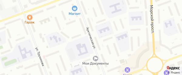 Арктическая улица на карте Северодвинска с номерами домов