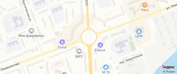 Площадь Давида Пашаева на карте Северодвинска с номерами домов
