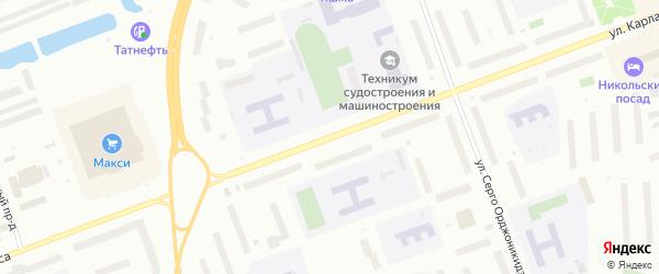 Улица Карла Маркса на карте Северодвинска с номерами домов