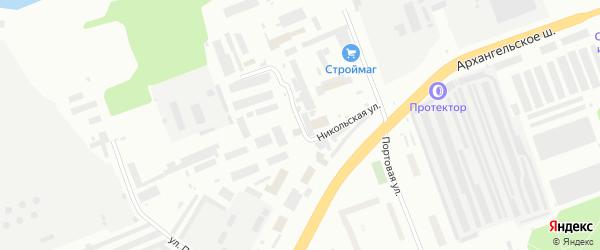 Никольская улица на карте Северодвинска с номерами домов