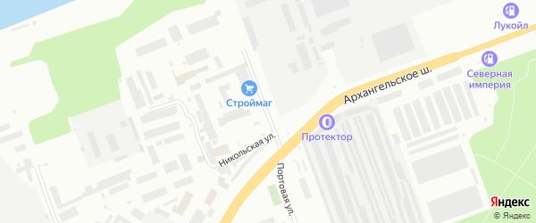 Портовая улица на карте Северодвинска с номерами домов