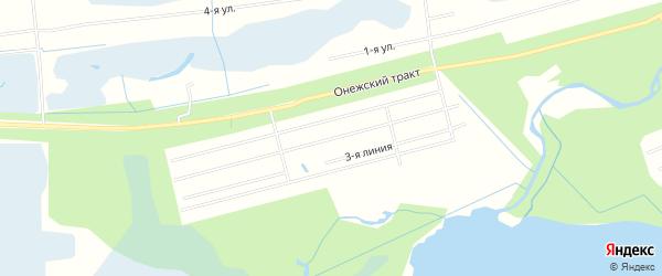 СНТ ОТРАДА на карте Северодвинска с номерами домов