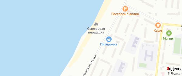 Набережная Александра Зрячева на карте Северодвинска с номерами домов