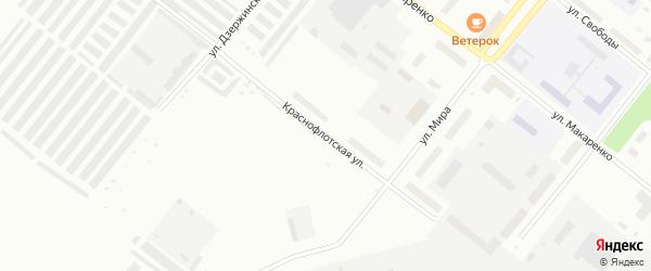 Краснофлотская улица на карте села Неноксы с номерами домов