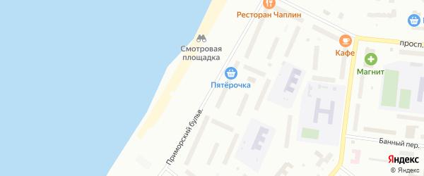 Приморский бульвар на карте Северодвинска с номерами домов