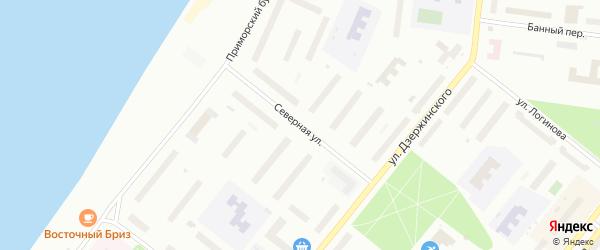 Северная улица на карте Северодвинска с номерами домов