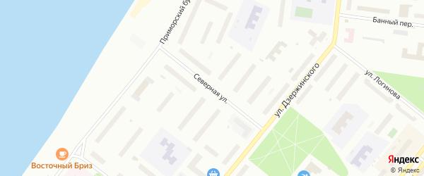 Северная улица на карте деревни Солза с номерами домов