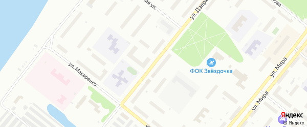 Улица Дзержинского на карте Северодвинска с номерами домов