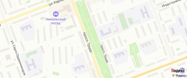 Сквер Аллея молодежи на карте Северодвинска с номерами домов