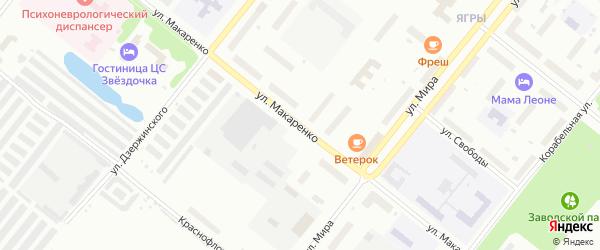 Улица Макаренко на карте Северодвинска с номерами домов