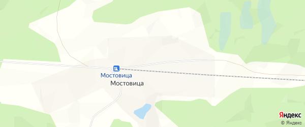 Карта поселка Мостовицы в Архангельской области с улицами и номерами домов