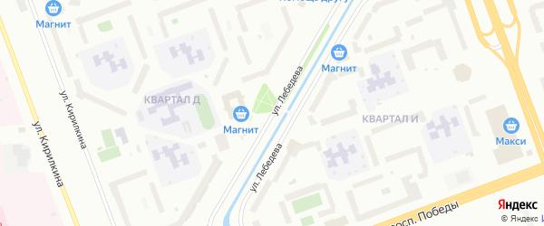 Улица Лебедева на карте Северодвинска с номерами домов