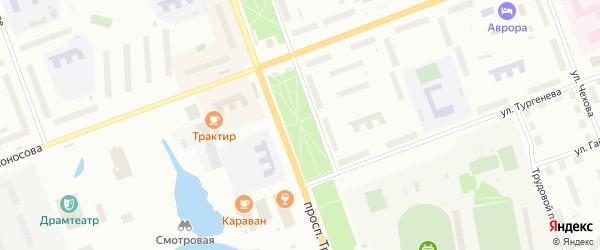 Аллея Героев на карте Северодвинска с номерами домов