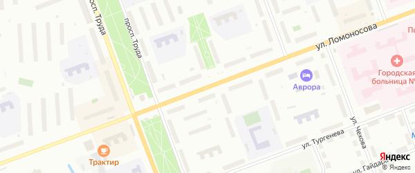 Улица Ломоносова на карте Северодвинска с номерами домов