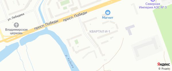 Набережная реки Кудьма на карте Северодвинска с номерами домов