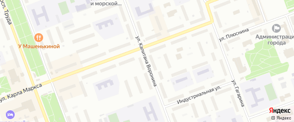 Улица Капитана Воронина на карте Северодвинска с номерами домов