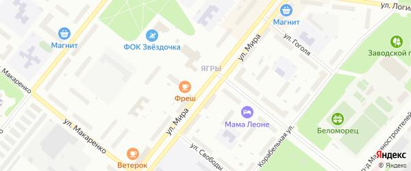 Улица Мира на карте Северодвинска с номерами домов