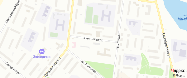 Банный переулок на карте Северодвинска с номерами домов