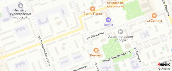 Улица Гагарина на карте Северодвинска с номерами домов