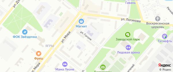 Улица Гоголя на карте Северодвинска с номерами домов