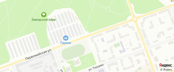 Первомайская улица на карте Северодвинска с номерами домов