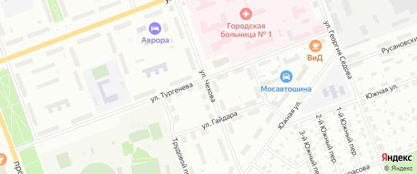 Улица Чехова на карте Северодвинска с номерами домов
