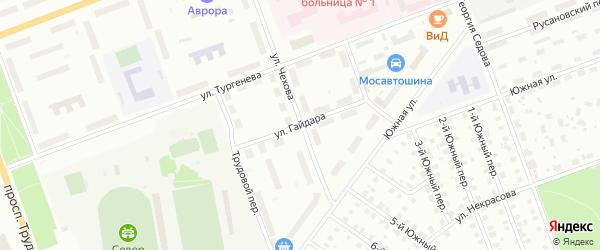Улица Гайдара на карте Северодвинска с номерами домов