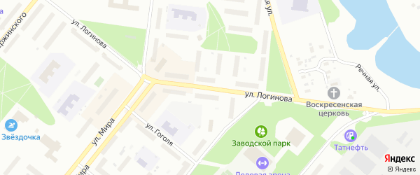 Улица Логинова на карте Северодвинска с номерами домов