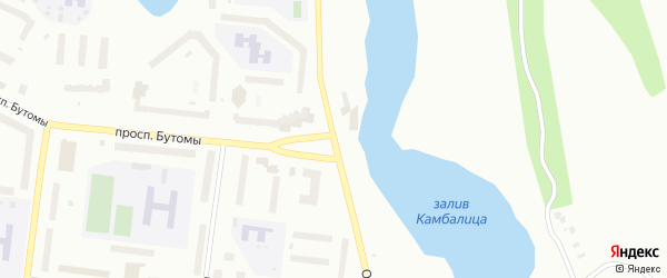 Октябрьская улица на карте Северодвинска с номерами домов