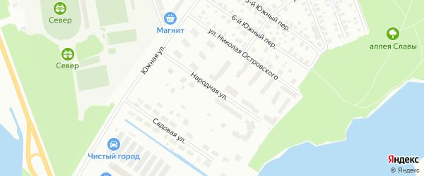 Народная улица на карте Северодвинска с номерами домов