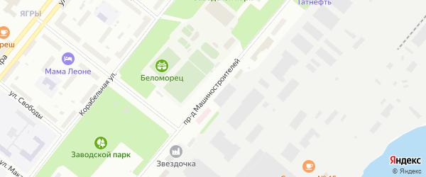 Проезд Машиностроителей на карте Северодвинска с номерами домов