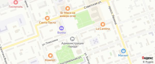 Улица Бойчука на карте Северодвинска с номерами домов