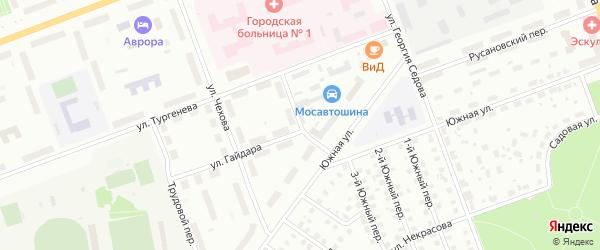 Восточный переулок на карте Северодвинска с номерами домов