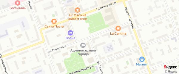 Улица Плюснина на карте Северодвинска с номерами домов