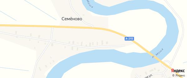 Улица Пирогово на карте деревни Семеново (Федовский с/с) с номерами домов