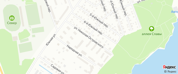 Улица Николая Островского на карте Северодвинска с номерами домов