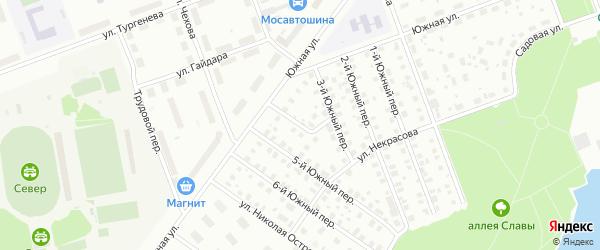 Южный 4-й переулок на карте Северодвинска с номерами домов