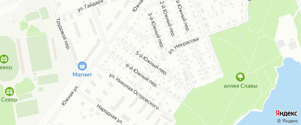 Южный 5-й переулок на карте Северодвинска с номерами домов