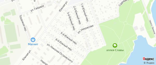 Улица Некрасова на карте Северодвинска с номерами домов