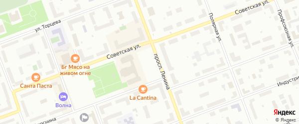 Площадь Победы на карте Северодвинска с номерами домов
