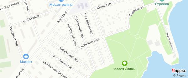 Южный 1-й переулок на карте Северодвинска с номерами домов