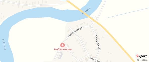 Мошенская улица на карте села Федово с номерами домов
