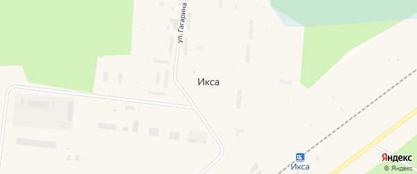 Железнодорожная улица на карте поселка Иксы с номерами домов