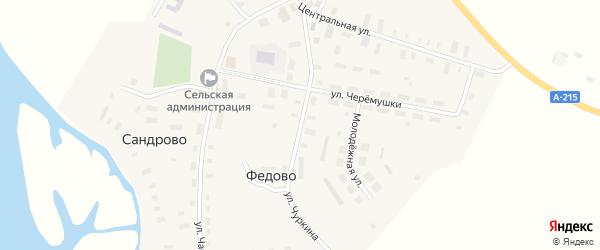 Улица Чуркина на карте села Федово с номерами домов