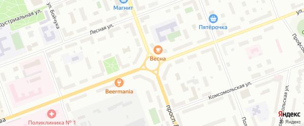 Площадь Ломоносова на карте Северодвинска с номерами домов